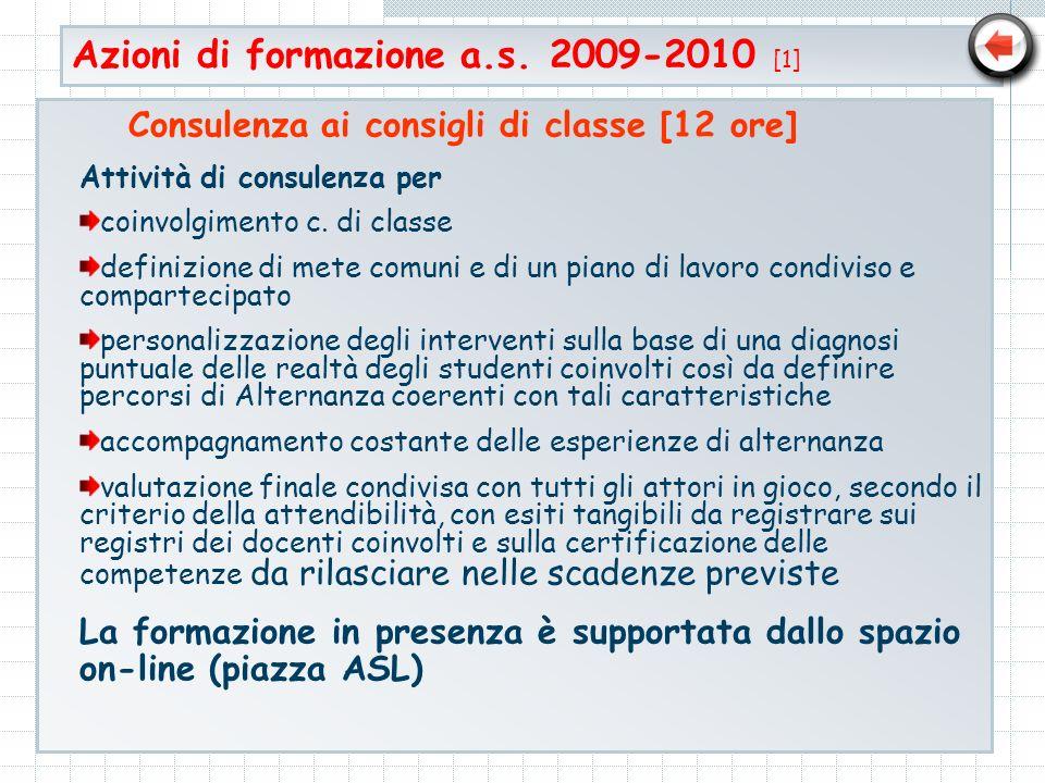 Azioni di formazione a.s. 2009-2010 [1]